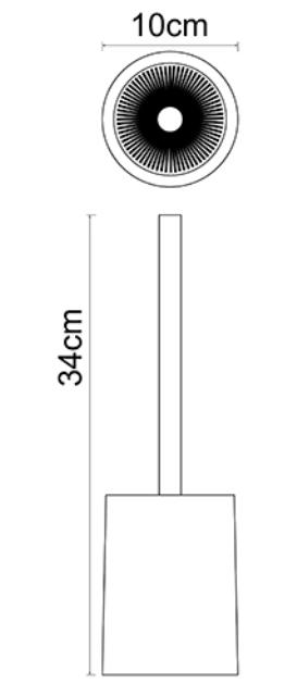 Щетка для унитаза WasserKRAFT Ohre K-37727 полирезин, нержавеющая сталь, фото