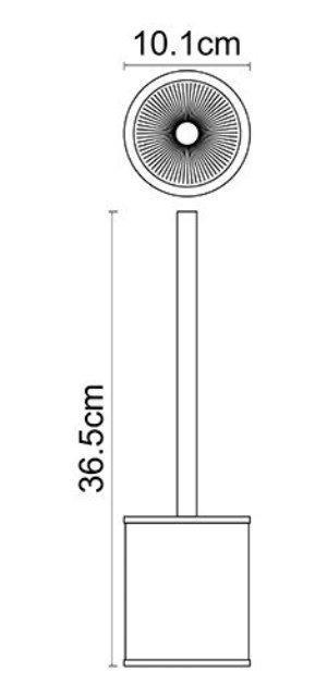 Щетка для унитаза WasserKRAFT Rossel K-5727 металл, хромоникелевое покрытие, фарфор, фото