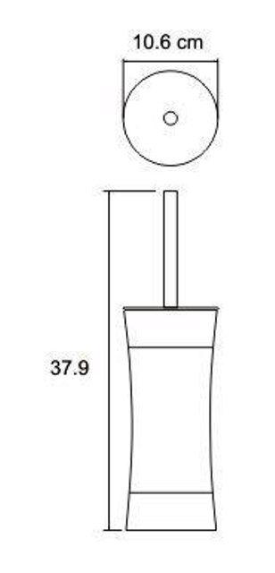 Щетка для унитаза WasserKRAFT Wern K-7527 нержавеющая сталь, фото