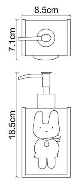 Дозатор для жидкого мыла WasserKRAFT Ammer K-6499, 330 ml металл, хромоникелевое покрытие, полирезин, фото