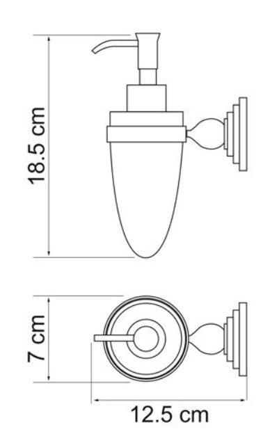 Дозатор для жидкого мыла WasserKRAFT Ammer K-7099, 160 ml металл, покрытие
