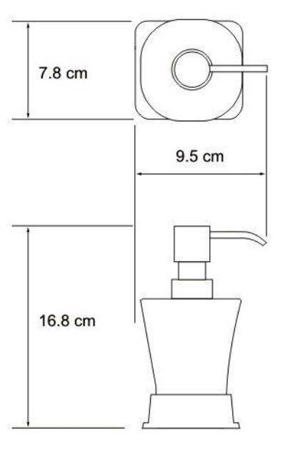 Дозатор для жидкого мыла WasserKRAFT Amper K-5499 Black, 300 ml металл, матовое стекло, покрытие Soft-touch, фото
