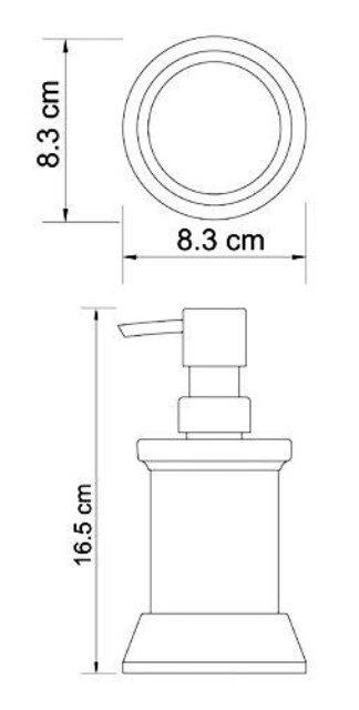 Дозатор для жидкого мыла WasserKRAFT Donau K-2499, 170 ml металл, хромоникелевое покрытие, матовое стекло, фото