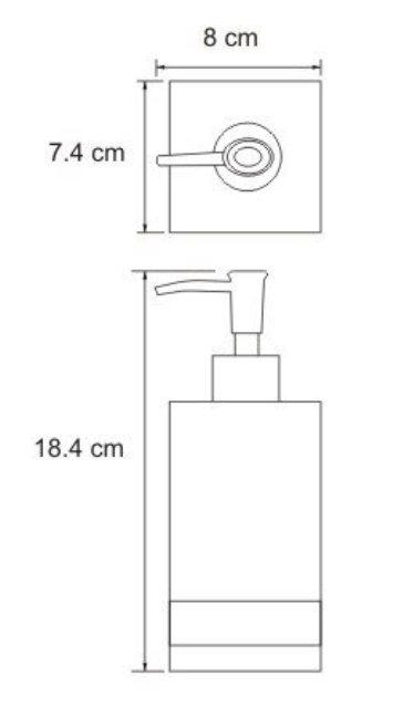Дозатор для жидкого мыла WasserKRAFT Inn K-4399, 290 ml металл, хромоникелевое покрытие, полирезин, фото