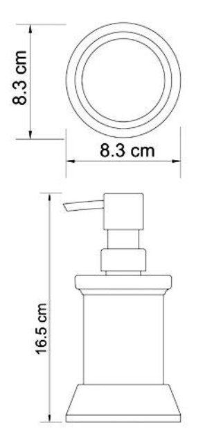 Дозатор для жидкого мыла WasserKRAFT Isar K-2399, 170 ml металл, матовое стекло, покрытие