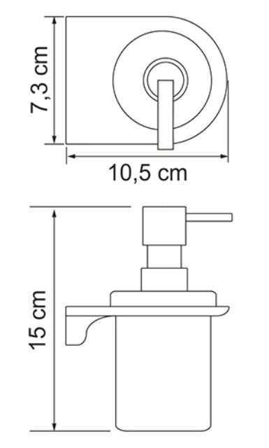 Дозатор для жидкого мыла WasserKRAFT Kammel K-8399 стеклянный, 170 ml металл, хромоникелевое покрытие, матовое стекло, фото
