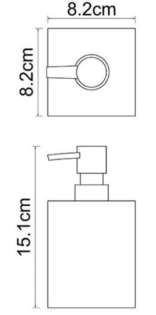 Дозатор для жидкого мыла WasserKRAFT Leine K-3899, 460 ml полирезин, фото