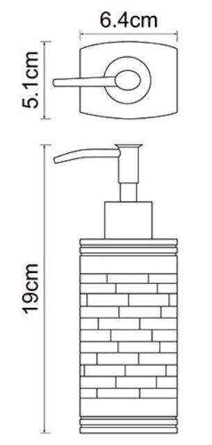 Дозатор для жидкого мыла WasserKRAFT Main K-4799, 240 ml полирезин, фото
