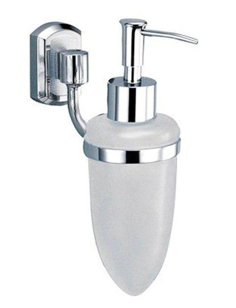 Дозатор для жидкого мыла WasserKRAFT Oder K-3099 стеклянный, 160 мл металл, хромоникелевое покрытие, матовое стекло, фото