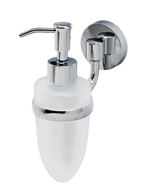Дозатор для жидкого мыла WasserKRAFT Rhein K-6299, 160 ml металл, хромоникелевое покрытие, матовое стекло, фото