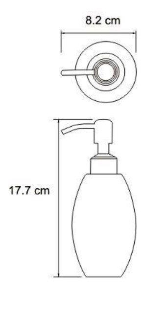 Дозатор для жидкого мыла WasserKRAFT Ruwer K-6799, 330 ml нержавеющая сталь, фото