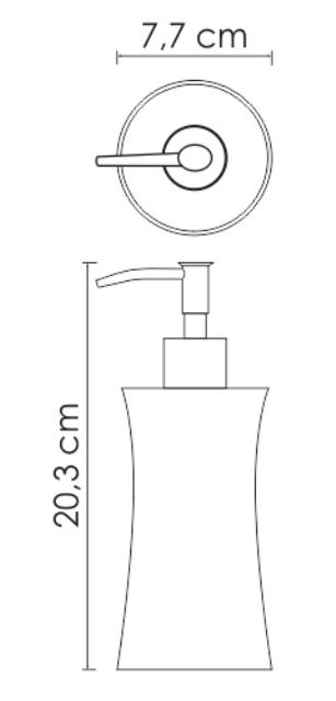 Дозатор для жидкого мыла WasserKRAFT Salm K-7699 металл, хромоникелевое покрытие, полирезин, фото