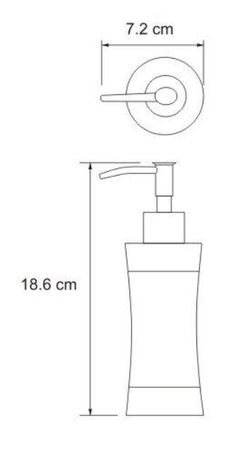 Дозатор для жидкого мыла WasserKRAFT Wern K-7599, 260 ml нержавеющая сталь, фото