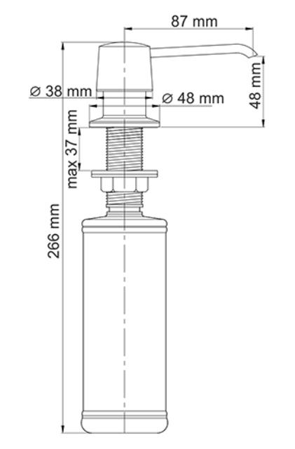 Встраиваемый дозатор для мыла WasserKRAFT K-1599 латунь, покрытие