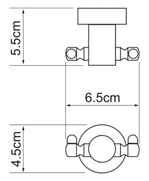 Крючок двойной WasserKRAFT Donau K-9423 металл, хромоникелевое покрытие, фото