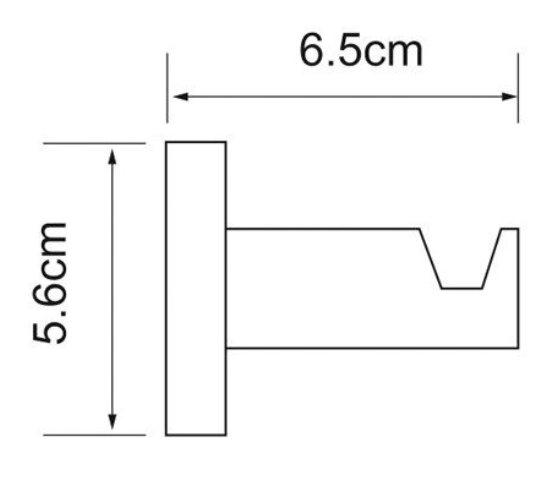 Крючок WasserKRAFT Isen K-4023 металл, хромоникелевое покрытие, фото