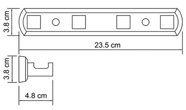 Кронштейн настенный WasserKRAFT Lippe K-6574, 4 крючка металл, хромоникелевое покрытие, фото