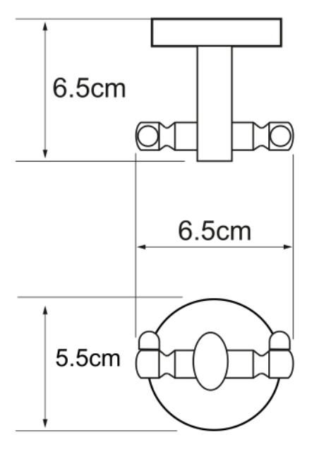 Крючок двойной WasserKRAFT Rhein K-6223D металл, хромоникелевое покрытие, фото
