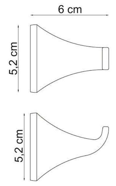 Крючок WasserKRAFT Wern K-2523 металл, хромоникелевое покрытие, фото