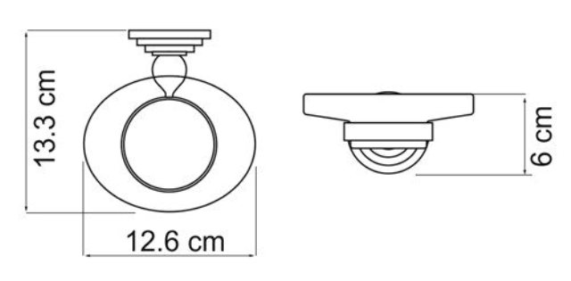 Мыльница WasserKRAFT Ammer K-7029 стеклянная металл, покрытие