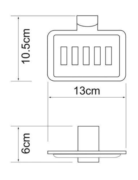 Мыльница WasserKRAFT Exter K-5269 решетка металл, покрытие
