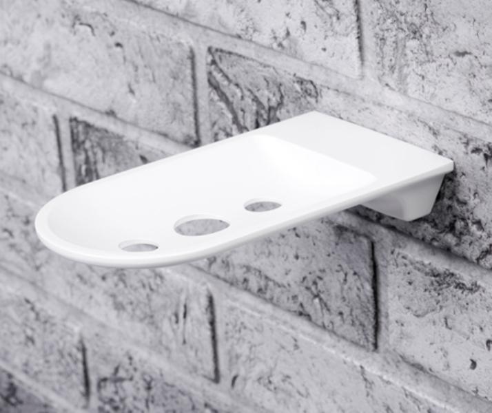 Мыльница WasserKRAFT Kammel K-8369 White решетка металл, белая порошковая краска, фото