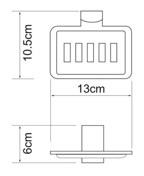 Мыльница WasserKRAFT Leine K-5069 решетка металл, хромоникелевое покрытие, фото