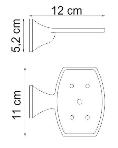 Мыльница WasserKRAFT Wern K-2569 решетка металл, хромоникелевое покрытие, фото