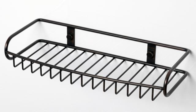 Полка WasserKRAFT K-1811 металлическая прямая нержавеющая сталь AISI 304, покрытие темная бронза, фото