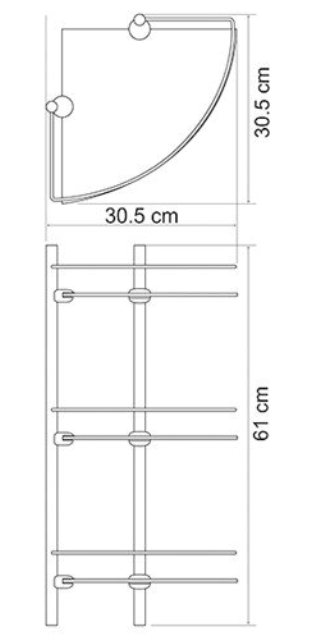 Полка WasserKRAFT K-3733 стеклянная тройная угловая металл, покрытие