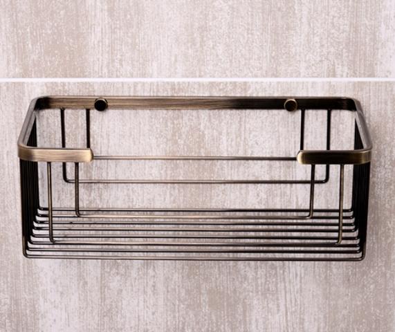 Полка WasserKRAFT K-744 металлическая прямая нержавеющая сталь AISI 304, покрытие светлая бронза, фото