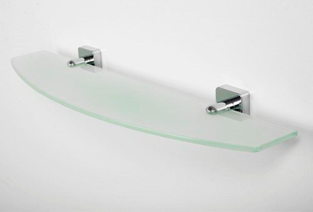 Полка WasserKRAFT Lippe K-6524 стеклянная металл, хромоникелевое покрытие, закаленное матовое стекло, фото