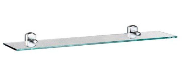 Полка WasserKRAFT Oder K-3024 стеклянная металл, хромоникелевое покрытие, закаленное стекло, фото