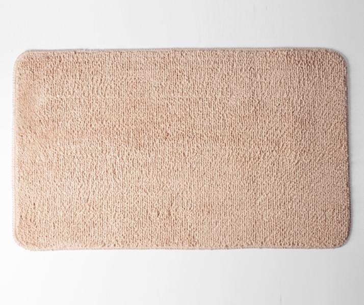 Коврик WasserKRAFT Vils BM-1031 Rugby Tan для ванной комнаты 75х45 см микрофибра, фото
