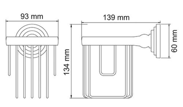 Держатель WasserKRAFT Ammer K-7045 освежителя металл, покрытие
