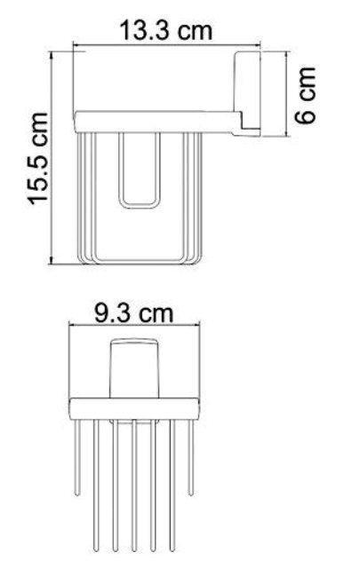 Держатель WasserKRAFT Exter K-5245 освежителя металл, покрытие