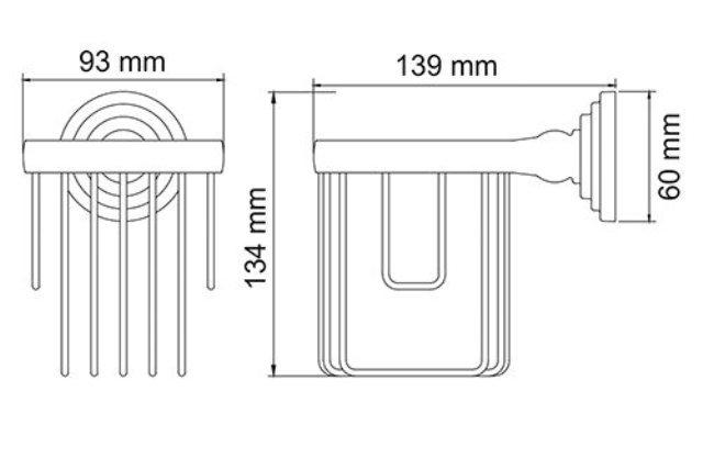 Держатель WasserKRAFT Isar K-7345 освежителя металл, покрытие