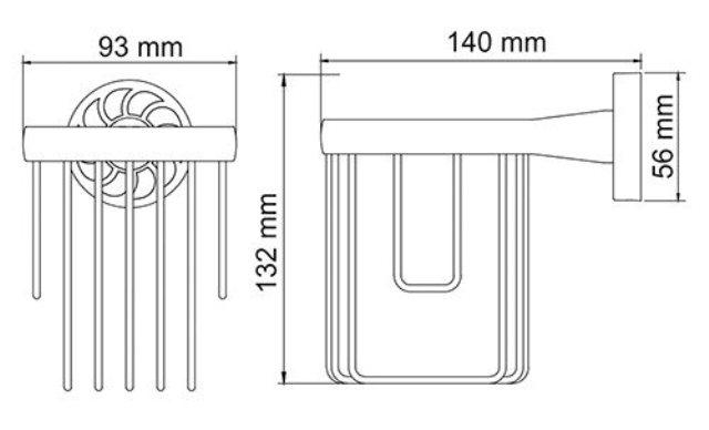 Держатель WasserKRAFT Isen K-4045 освежителя металл, хромоникелевое покрытие, фото
