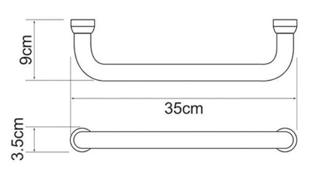 Поручень WasserKRAFT K-1066 для ванны, фото