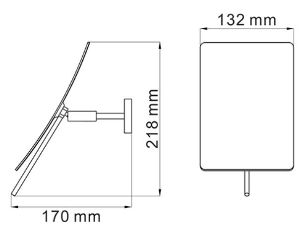 Зеркало WasserKRAFT K-1001 с 3-х кратным увеличением, фото