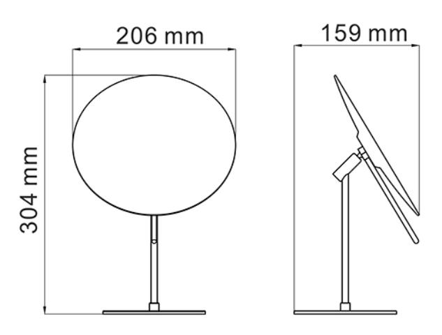 Зеркало WasserKRAFT K-1002 с 3-х кратным увеличением, нержавеющая сталь AISI 304, латунь, хромоникелевое покрытие, фото