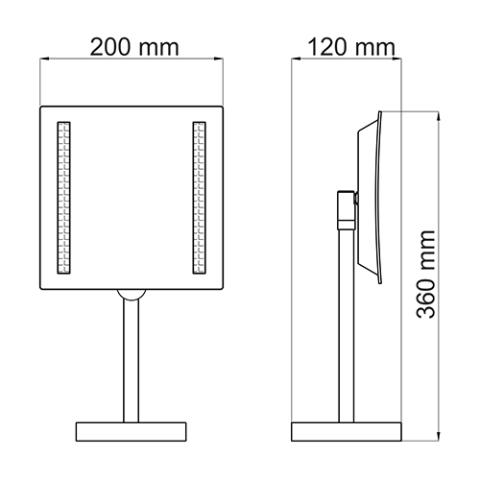 Зеркало WasserKRAFT K-1007 с LED-подсветкой, 3-х кратным увеличением, металл, хромоникелевое покрытие, ABS - пластик, фото