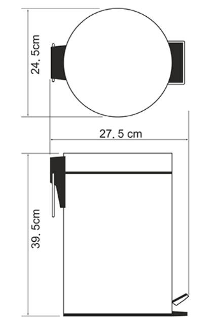Ведро WasserKRAFT K-612 12 л нержавеющая сталь AISI 304, хромоникелевое покрытие, ABS - пластик, фото