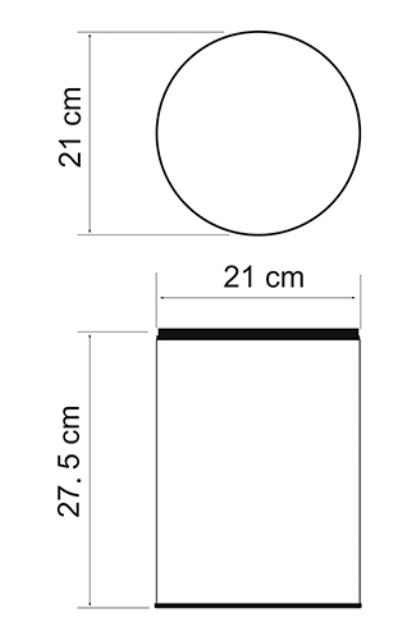 Ведро WasserKRAFT K-625 5 л, без крышки нержавеющая сталь AISI 304, хромоникелевое покрытие, ABS - пластик, фото