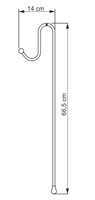 Держатели WasserKRAFT K-1122 для 2-х навесных полок металл, хромоникелевое покрытие, фото