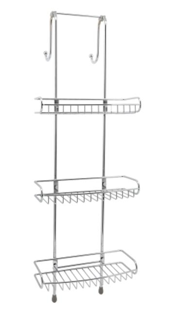 Комплект из держателей и 3-х навесных полок WasserKRAFT K-141133 металл, нержавеющая сталь AISI 304, хромоникелевое покрытие, фото