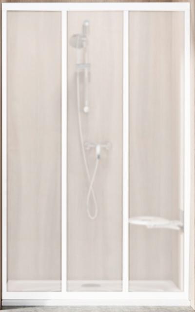 Фото - Душевая дверь Ravak ASDP3-120 белая+Гpапе (00VG0102ZG)