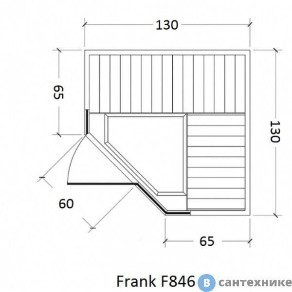 Инфракрасная сауна Frank F846 (130х130x210)